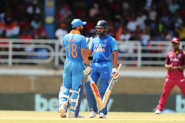 Virat Kohli and Rohit Sharma are two of India's best batsmen in ODI cricket.