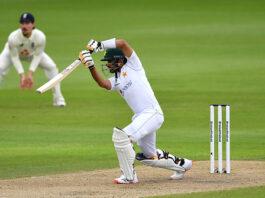 Babar Azam bats during England v Pakistan day one at Old Trafford