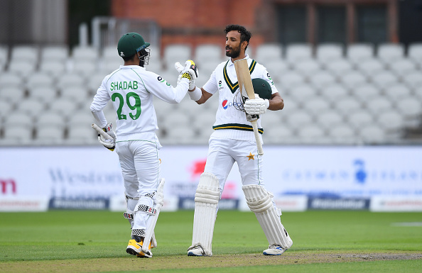 Shan Masood and Shadab Khan put on a 105 run partnership for the sixth wicket