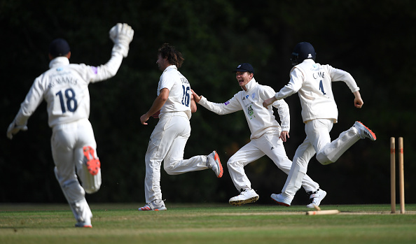 James Fuller picked up a hat-trick in round 3 of the Bob Willis Trophy 2020