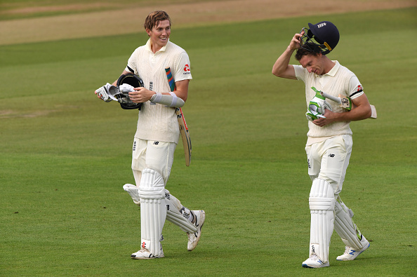 Zak Crawley and Jos Buttler shared a double century partnership at the Ageas Bowl in the third test