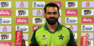Mohammad Hafeez was the player of the match and the series in the T20 series against England for Pakistan