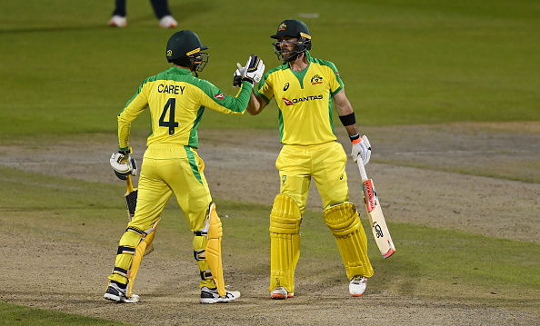 Glenn Maxwell and Alex Carey scored a double century partnership