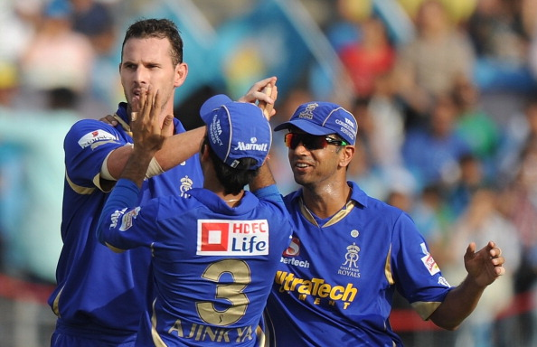 Rahul Dravid captaining the Rajasthan Royals in the Indian Premier League