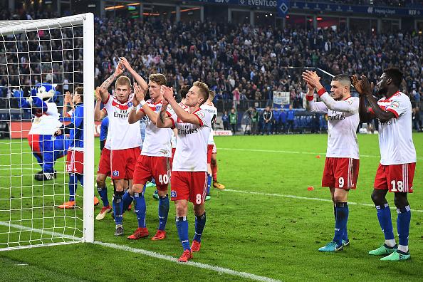 Hamburg battled to stay in the Bundesliga