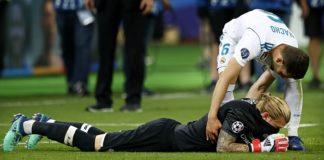 Loris Karius lies devastated following the Champion's League Final