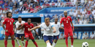 Harry Kane nets one of two penalties in his hattrick against Panama