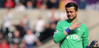 Fabianski in his last game for relegated Swansea