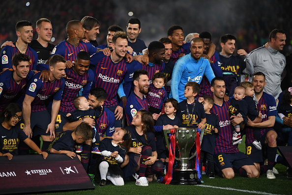 Image result for barcelona la liga champions