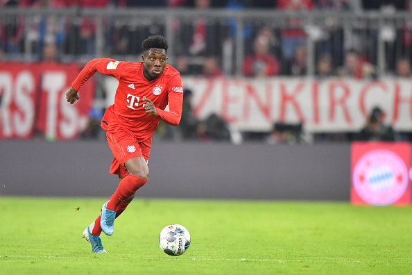 Alphonso Davies left-back