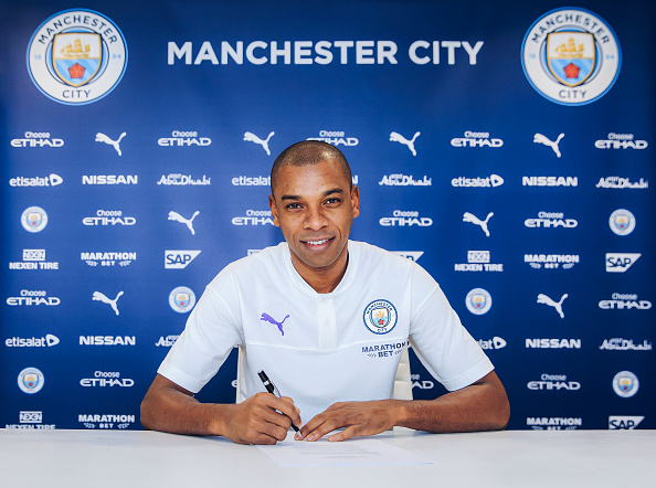 Image result for pic of fernandinho extends man city contract