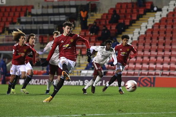 Joe Hugill of the Manchester United academy