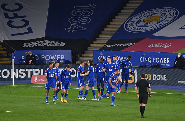 Leicester City Celebrating