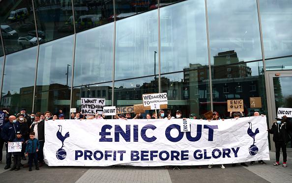 Tottenham fans protest
