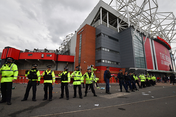 Old Trafford protest