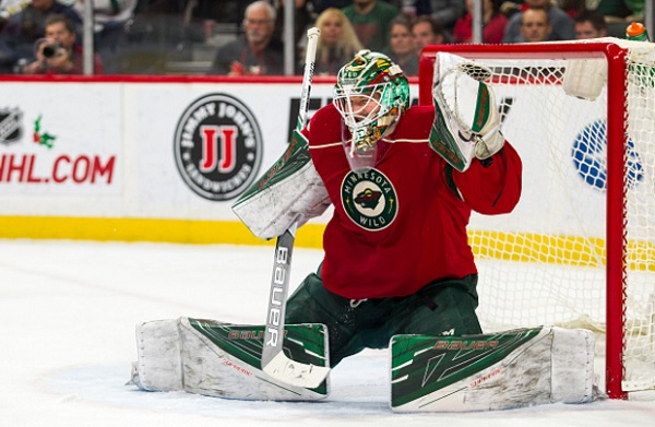 minnesota wild deploy virtual reality goalie game, Devan Dubnyk