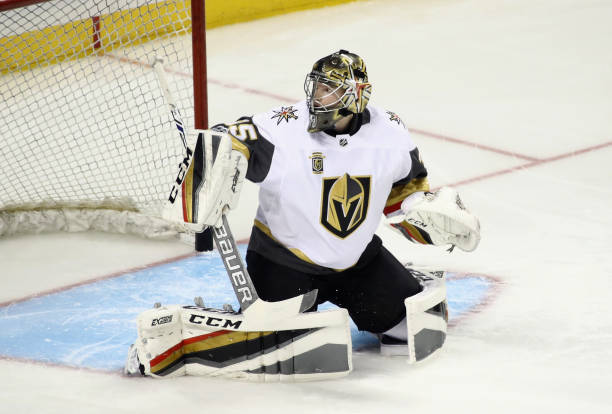 info for 07bf7 052cb Vegas Golden Knights Goalie Oscar Dansk Out With Injury