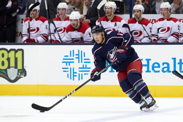 buy popular 92d5d f340d Cam Atkinson's Slow Start Hurting Columbus Blue Jackets ...