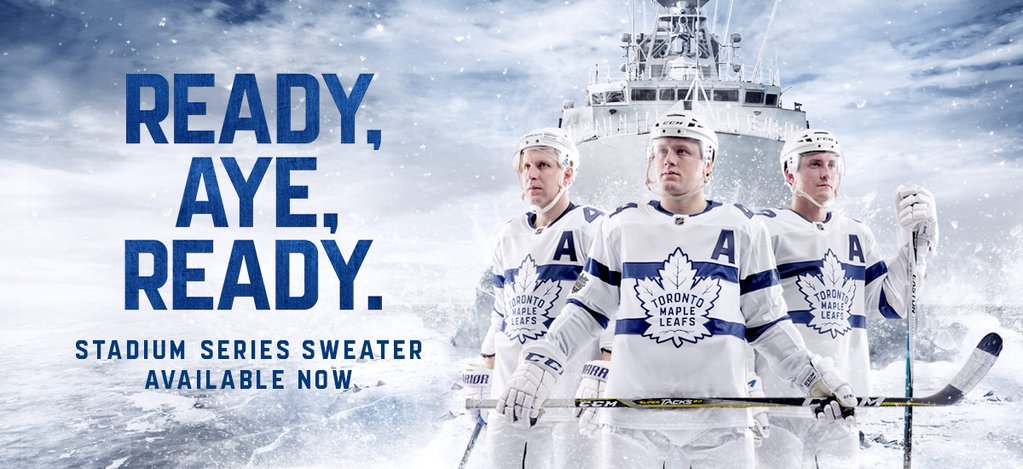 buy online aad89 a3f7b Toronto Maple Leafs Officially Unveil Stadium Series Jerseys ...