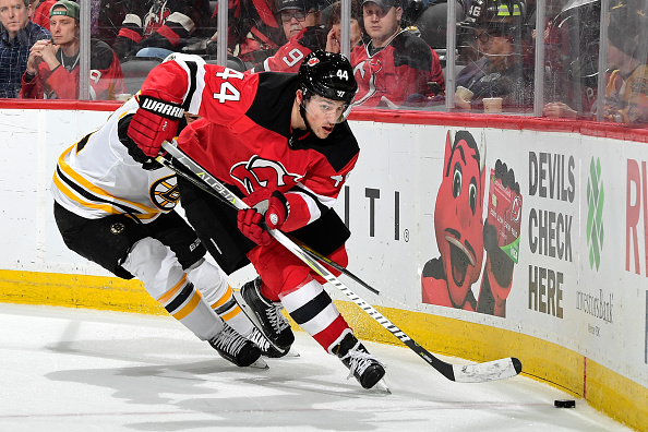 low priced 271aa 8f61a Miles Wood Resigns with New Jersey Devils After Sophomore ...