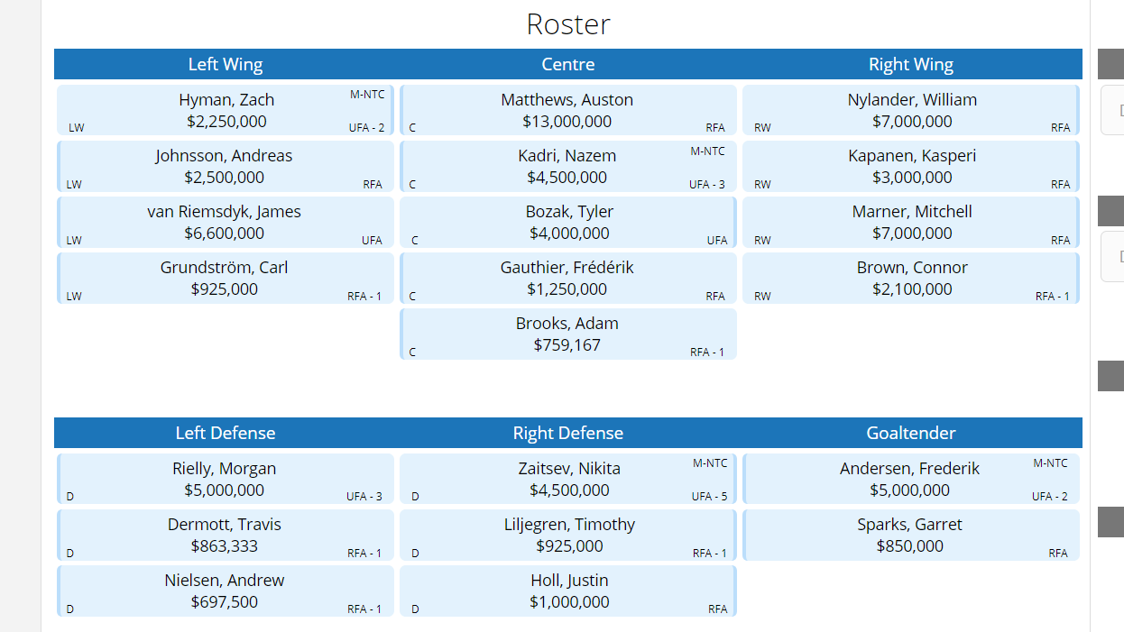 Dealing With The Three Big Toronto Maple Leafs Unrestricted Free Agents 737741c4704