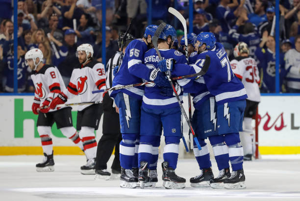 Saturday Afternoon The Tampa Bay Lightning Put The Final Nail In The New  Jersey Devils Hopes Of Making It Out Of The First Round. The Offensive  Threats Of ...
