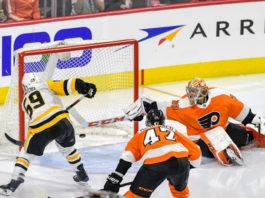 Pittsburgh Penguins vs Philadelpha Flyers Jake Guentzel