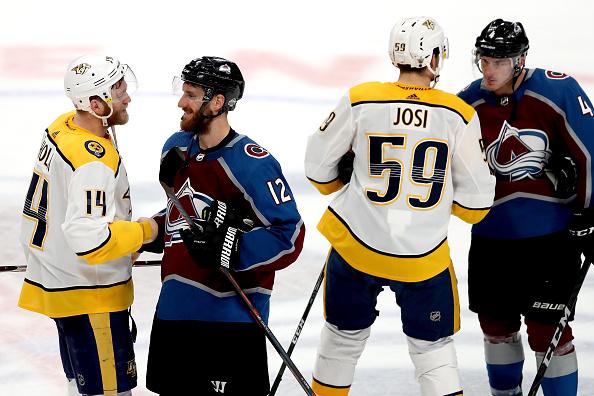 Nashville Predators vs. Colorado Avalanche; Patrik Nemeth; Roman Josi