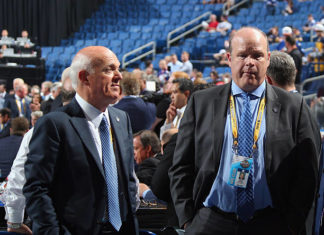 Lou Lamoriello and Mark Hunter