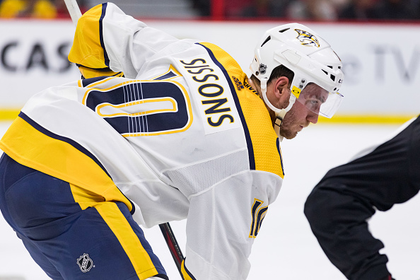 sports shoes 233b2 3c1a9 Colton Sissons Finding His Game For Nashville Predators