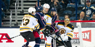 columbus blue jackets vs boston bruins
