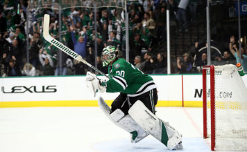 Ben Bishop looks to stay hot in the St. Louis Blues vs Dallas Stars series.