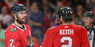 Stars of Chicago Blackhawks Defence Duncan Keith and Brent Seabrook.