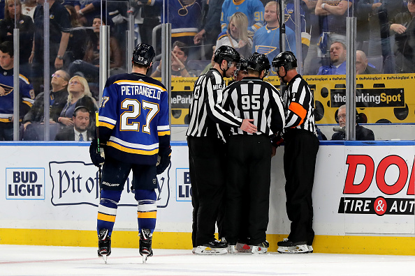 NHL playoff officiating