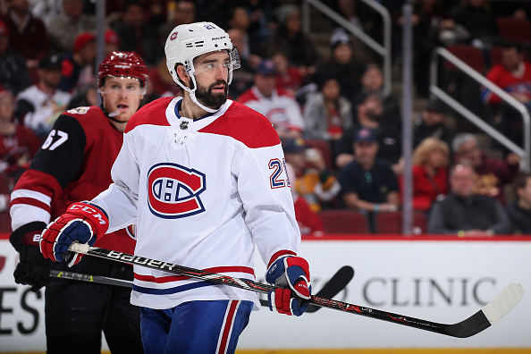 David Schlemko skates around while playing for the Montreal Canadiens.