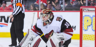 Calvin Pickard in net for Arizona Coyotes