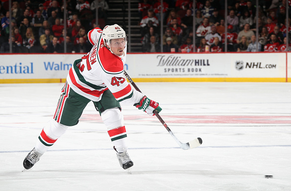 Headliner of the NHL rumours, Sami Vatanen shoots a puck.