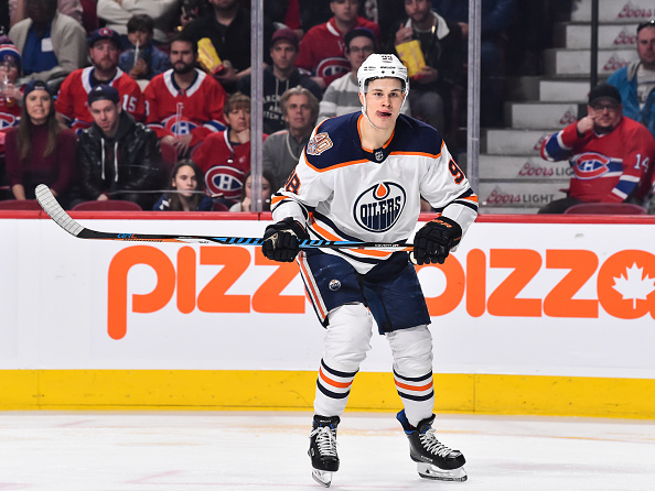 Constant feature of NHL Rumours, Jesse Puljujarvi, skates up the ice.