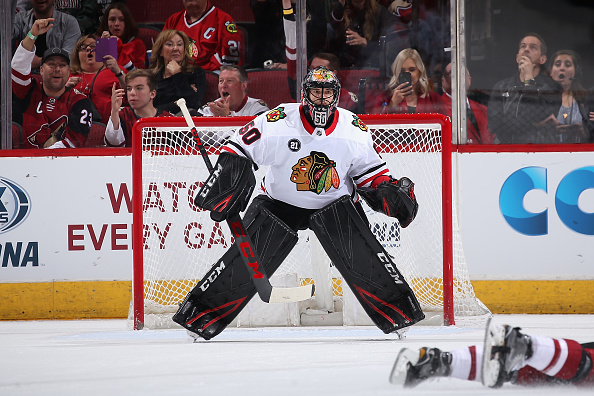 The most well-known of the Chicago Blackhawks goalies, Corey Crawford.