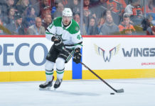 Valeri Nichushkin skates with the puck
