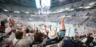 In front of a sold-out crowd, fans watch the Winnipeg Jets biggest game.