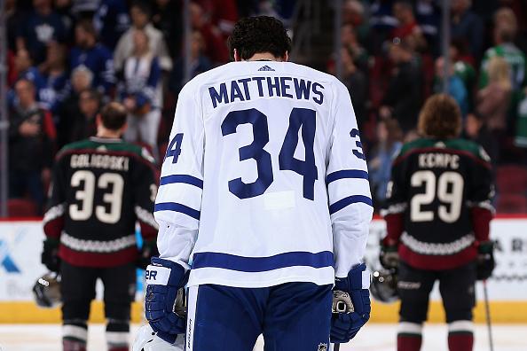 pretty nice c1bc5 50542 Toronto Maple Leafs Star Auston Matthews May Go Home at the ...