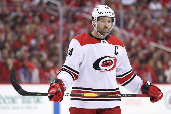 Justin Williams looks onward during a game.
