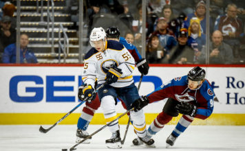 Rasmus Ristolainen skates the puck, tailed by Mikko Rantanen, two headlines of recent NHL rumours.