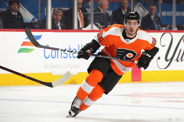 Mark Friedman #59 of the Philadelphia Flyers