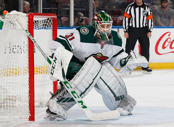 Goaltender Kaapo Kahkonen #31 of the Minnesota Wild