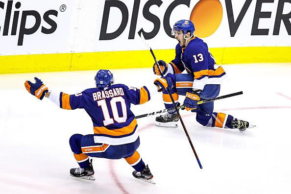 Mathew Barzal #13 of the New York Islanders