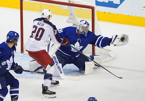Frederik Andersen #31 of the Toronto Maple Leafs