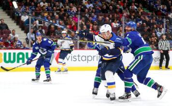 Vancouver Canucks vs St Louis Blues