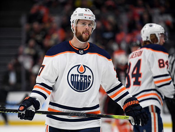 Mike Green #27 of the Edmonton Oilers